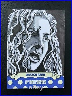 House of 1000 Corpses Trading Card Insert Artist Casey Scott Sketch Card. BABY