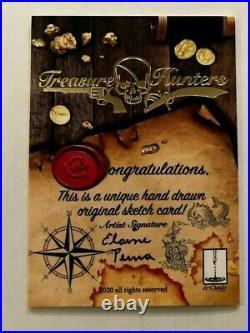 Iconic Creations Treasure Hunters Artist Sketch Card Elaine Perna Pirate! Tony