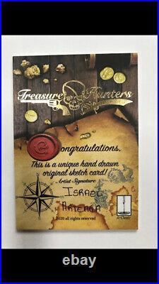 Iconic Creations Treasure Hunters Artist Sketch Card Israel Arteaga Pirate