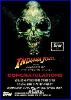 Indiana Jones Kingdom Crystal Skull Artist Sketch Card