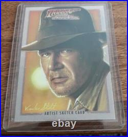 Indiana Jones Topps original artists return card Jerry Vanderstelt KOTCS
