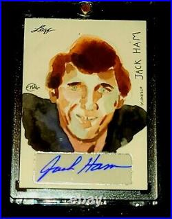 JACK HAM STEELERS 1 OF 1 ON Card Auto Sketch Rare Artist Zuno Studio True 1/1