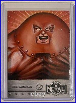 JUGGERNAUT 2020 X-Men Upper Deck Marvel Metal Fred Ian Artist Sketch Card #1/1