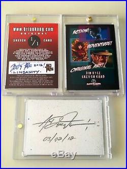 Jeremy Lin Original Artist Sketch Card Brian Kong Knicks Toronto Raptors 1/1