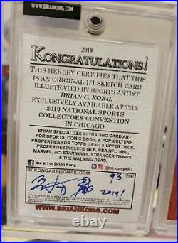 Kobe Bryant 1/1 2019 National NSCC Topps artist Brian Kong Sketch card RC