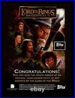Lord of the Rings Masterpieces II Artist Sketch Trading Card by Ray Lago