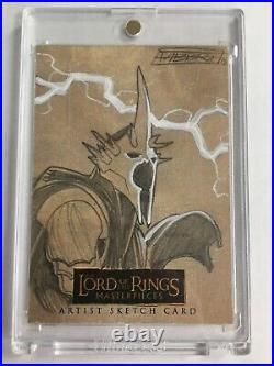 Lord of the Rings Masterpieces Signed Artist Sketch Card 1 of 1