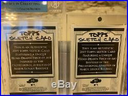 Lot (2) 2009 Topps Artist Sketch Card Jackie Robinson 1/1 Rich Molinelli