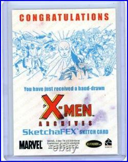 MAGNETO/MAX 2009 X-MEN ARCHIVES ARTIST COLOR SKETCH CARD by ALLISON SOHN 1/1