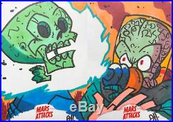 Mars Attacks Sketch Card LOT! 28 Awesome Cards! Many Artists Lots of Aliens