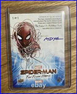 Marvel 2019 upper deck marvel spider-man Far from Home Artist sketch card