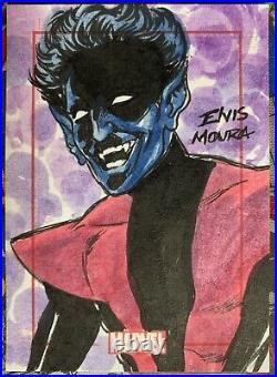 Marvel 75th Anniversary SketchaFEX Card Nightcrawler Artist Elvin Moura