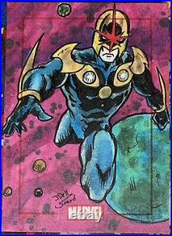 Marvel 75th Anniversary SketchaFEX Sketch Card Nova Artist Johndell Snead