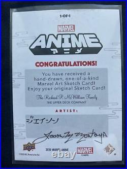 Marvel ANIME CARDS 2020 Upperdeck Artist Sketch Card Case Hit Dr Strange