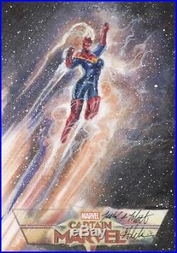 Marvel Avengers Endgame, Mick & Matt Glebe Captain Marvel Artist Sketch Card 1/1