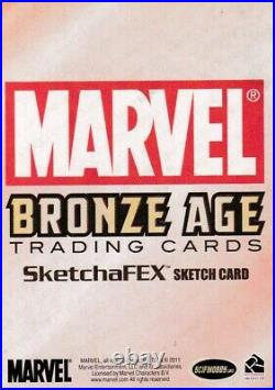 Marvel Bronze Age Color Sketch Cards by Artist Unknown of Nova