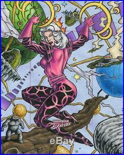 Marvel Dangerous Divas Artist Proof Oversize Uncut Sketch Card By Tony Perna