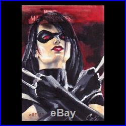 Marvel Masterpieces Cat Stagg X-23 Artist Proof Sketch card
