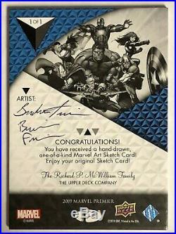 Marvel Premier Artist Proof hand-drawn artist sketch card Rogue