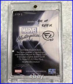 Marvel Sky Box Artist sketch card rare MARVEL MASTERPIECES ART OF EFFiX
