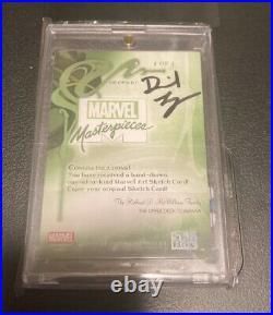 Marvel Sky Box Spider-man Artist sketch card MASTERPIECES