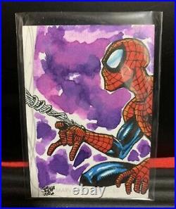 Marvel Sky Box Spider-man Artist sketch card rare MARVEL MASTERPIECES 001