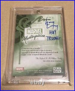 Marvel Sky Box Spider-man Artist sketch card rare MARVEL MASTERPIECES 002