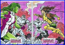 Marvel Women Of Marvel Series 2 Dual Sketch Card By Unknown Artist