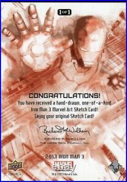 Marvel upper deck MARVEL IRON MAN 3 Artist sketch card