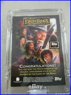 ORTHANC Isengard Lord of the Rings Masterpieces II ARTIST SKETCH CARD 1/1 ZQ