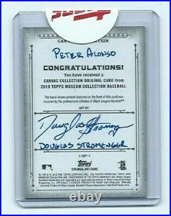PETE ALONSO TRUE 1/1 CANVAS ROOKIE SKETCH 2019 TOPPS MUSEUM BASEBALL Artist Auto