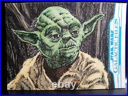 Perfect Yoda Galactic Files Star Wars Topps Sketch Card Artist Proof Kurt Ruskin