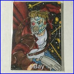 Phillip Bergquist STAR LORD Artist Sketch Card 2018 Marvel Masterpieces
