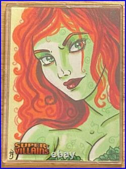 Poison Ivy DC Super Villains 1/1 Artist Proof AP Sketch Card by Anastasia Catris