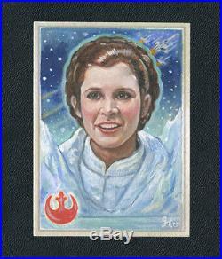 Princess Leia Hoth Empire SB Oil Painting sketch card original Art 1/1 ACEO
