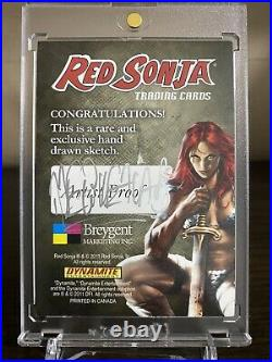 Red Sonja 2011 (Breygent) Color Artist Sketch Trading Card AP by Melike Acar