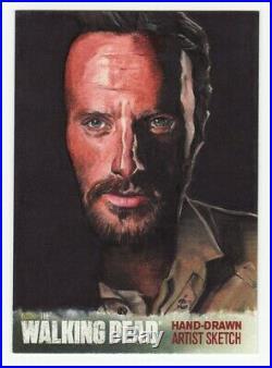 Rick Grimes The Walking Dead Season 4 Artist Sketch Card 1/1 Mike James