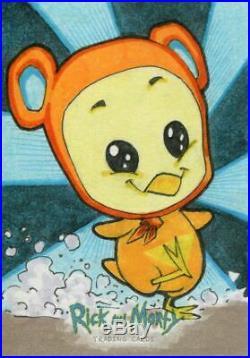 Rick & Morty Season 2 Sketch Card By Unknown Artist