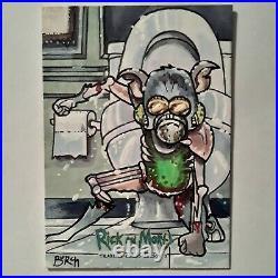 Rick & Morty Season 3 Cryptozoic Sketch Card Pickle Rick Artist Proof Burch 1