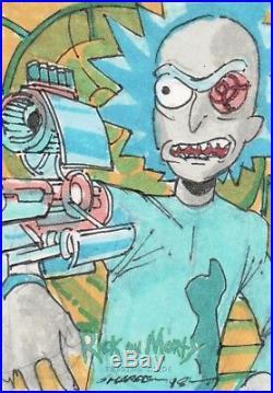 Rick and Morty Season 1, Kevin Sharpe Artist Sketch Card 1/1