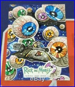 Rick and Morty Season 3 Artist Sketch Card 1/1 Chris Meeks Eyeballs in Space