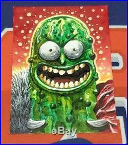 Rick and Morty Season 3 Artist Sketch Card 1/1 Chris Meeks Pickle Rick