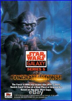 STAR WARS GALAXY 5 ARTIST RETURN AP SKETCH CARD TARKIN by BRYAN MORTON