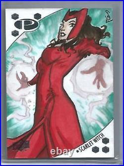 Scarlet Witch 2017 Upper Deck Marvel Premier Artist Sketch Card #1/1