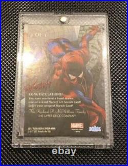 Spider-man Artist sketch card upper deck Achilleas Kokkinakis