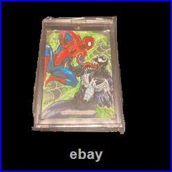 Spider-man Marvel Sky Box Artist sketch card MASTERPIECES Spider man