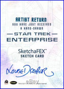 Star Trek Enterprise Trip Tucker Sketch Card Artist Proof Louise Draper