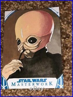 Star Wars Artist Sketch Card 1/1 Cantina Band by Tina Beradi AP