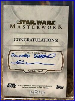 Star Wars Artist Sketch Card 1/1 Padme Amidala by Richard Serrao