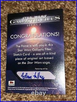 Star Wars Artist Sketch Card 1/1 Space Battle by Adam Talley
